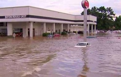 The Amite and Comite rivers reached record levels.