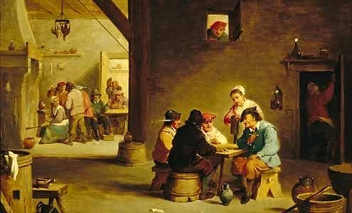 Detail from a painting by David Teniers the Younger.
