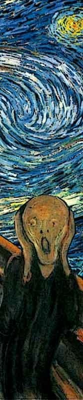 """Detail from Van Gogh's """"The Scream."""""""