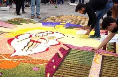 The Infiorata, a Christian version of the Roman spring celebrations known as Floralia.