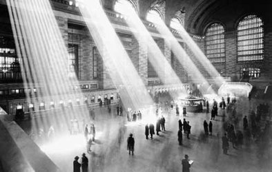 Grand Central Station in the 1940s.