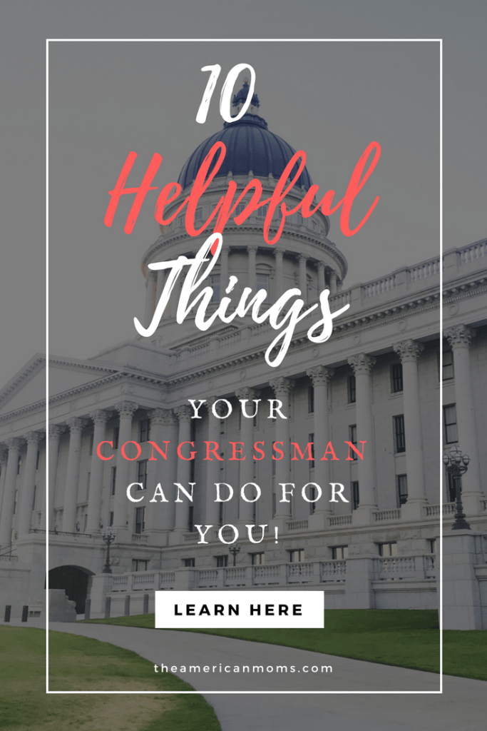 helpful things your congressman can do for you