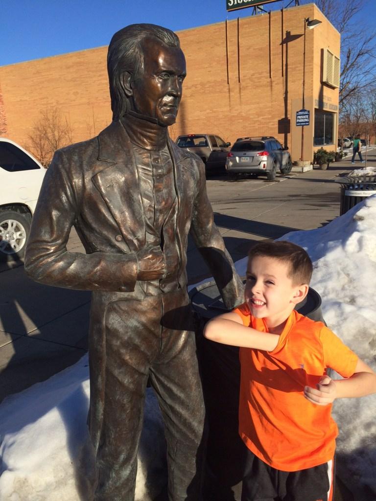 President Polk statue