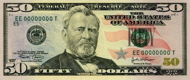 Ulysses S. Grant on the $50 bill