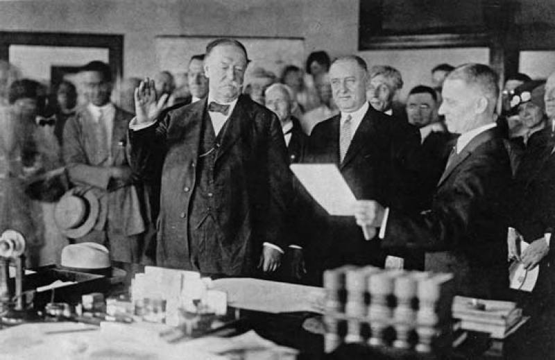 Chief Justice Taft Being sworn in