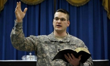 Military Censors Christian Chaplain, Atheists Call for Punishment