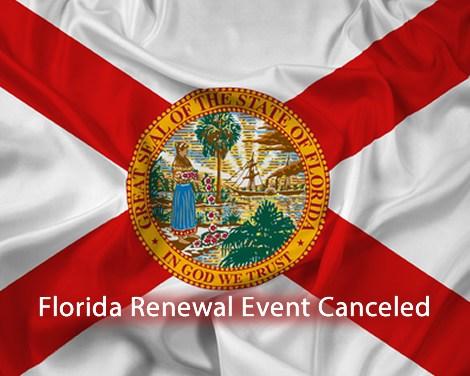 Florida Event Canceled