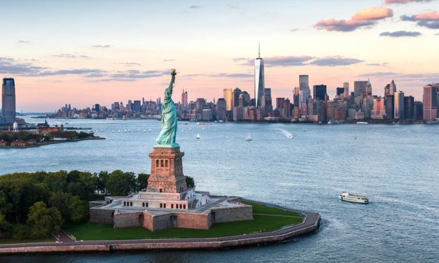 """Statue of Liberty – """"America–a last effort of Divine Providence in behalf of the human race.""""- Ralph Waldo Emerson"""