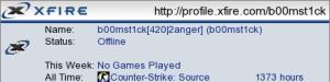 b00mst1ck Xfire Miniprofile