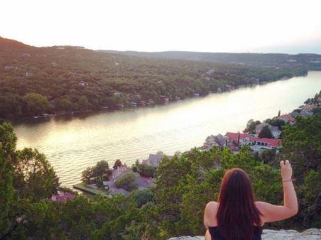Aug. 2015 - GO FROGS on Mt. Bonnell, Austin, TX