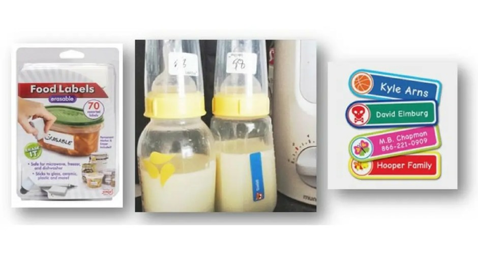 Two huge time saving tips for labeling bottles for daycare! Every little bit counts right?