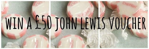 John Lewis competition voucher win