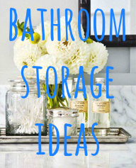 bathroom storage ideas, glass, cabinets