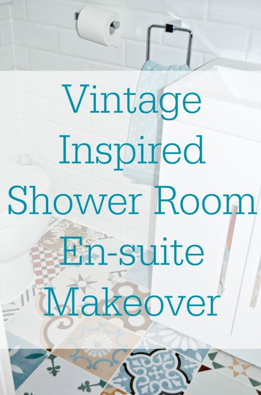 This is a vintage inspired Shower room makeover. Vintage, En-suite, Makeover