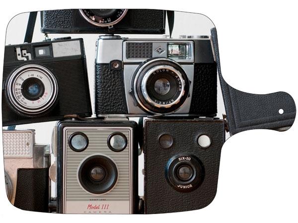 chopping board / Vintage camera