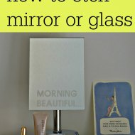 How to Etch Mirror or Glass : Cricut Explore
