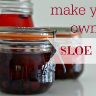 Making your own Sloe Gin