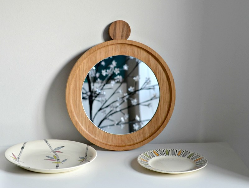 oates and Co, oak round mirror