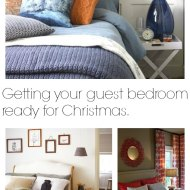 Getting a Guest Bedroom Ready for Christmas