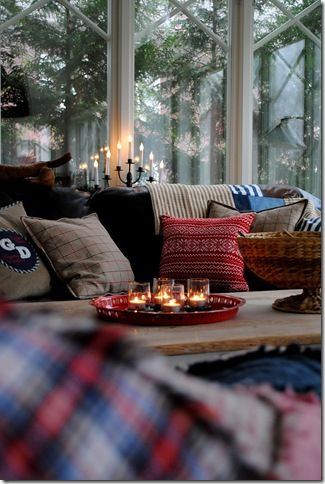 Candle, winter, home