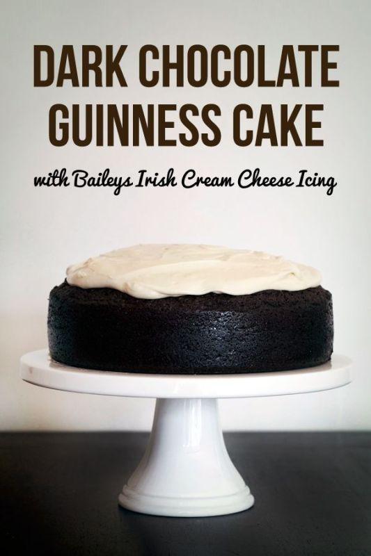 love swah Dark chocolate guinness cake with baileys cream cheese icing