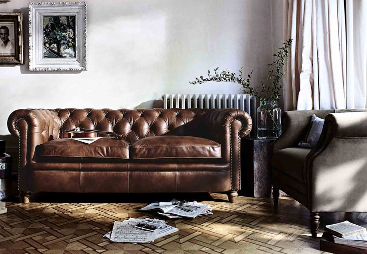 Furniture Village leather sofa
