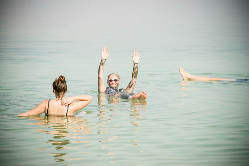 The Dead sea Floating