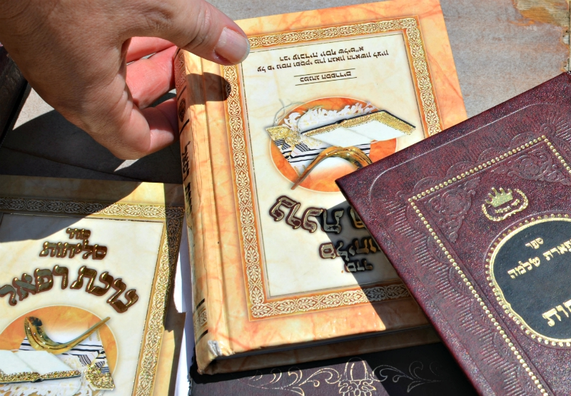 Religious books at the Western Wall