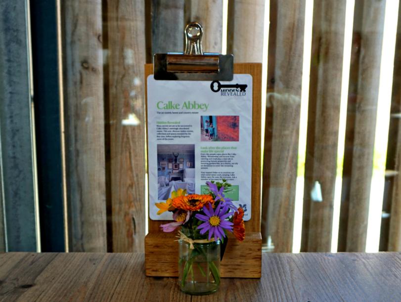 Calke Abbey - cafe, flowers