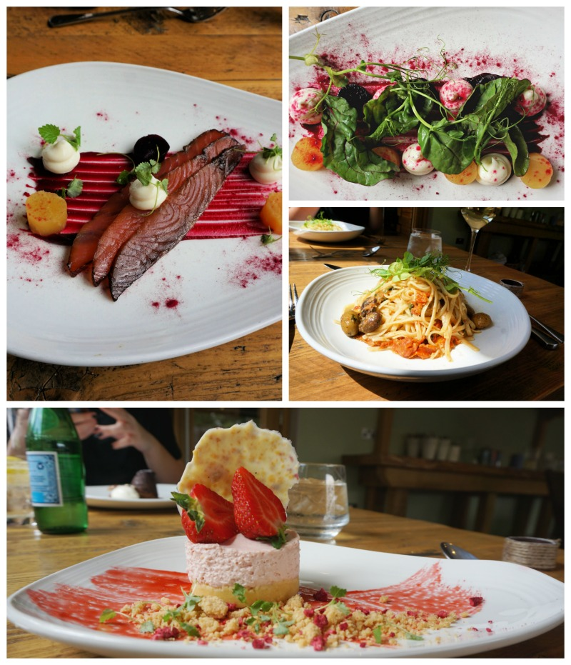 showing you the food from the spa ye olde bell spa and hotel