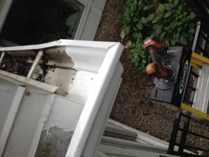 Eves trough repaired by The Ancaster Handyman.