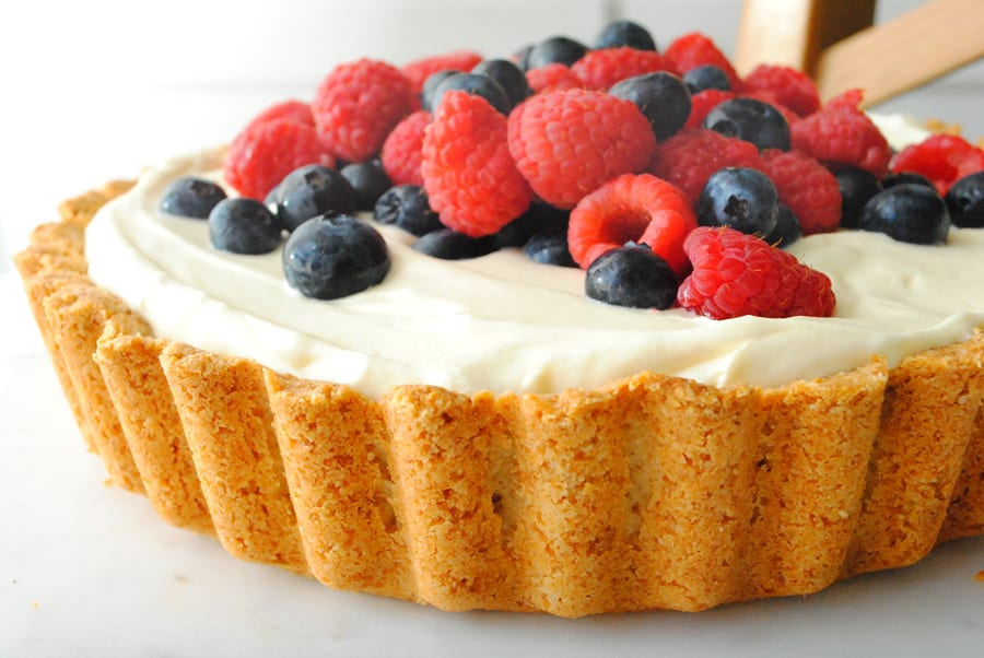 Lemon Berry Almond Tart