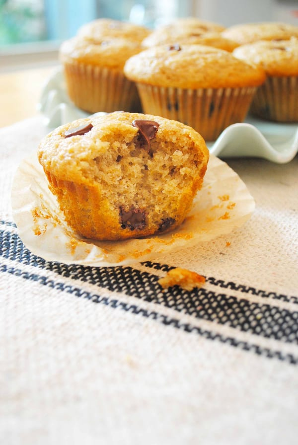 Chocolate Chip Oat Muffins