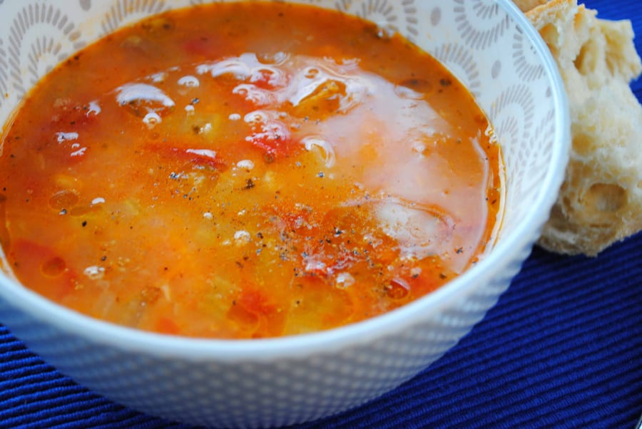 Hearty Tomato and Bean Soup