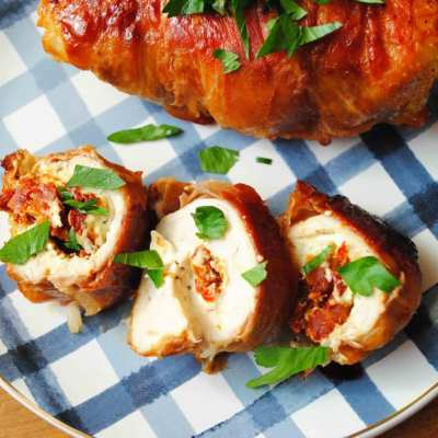 Goat Cheese & Sun Dried Tomato Stuffed Chicken