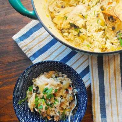 One Pot Lemon-Caper Chicken & Rice