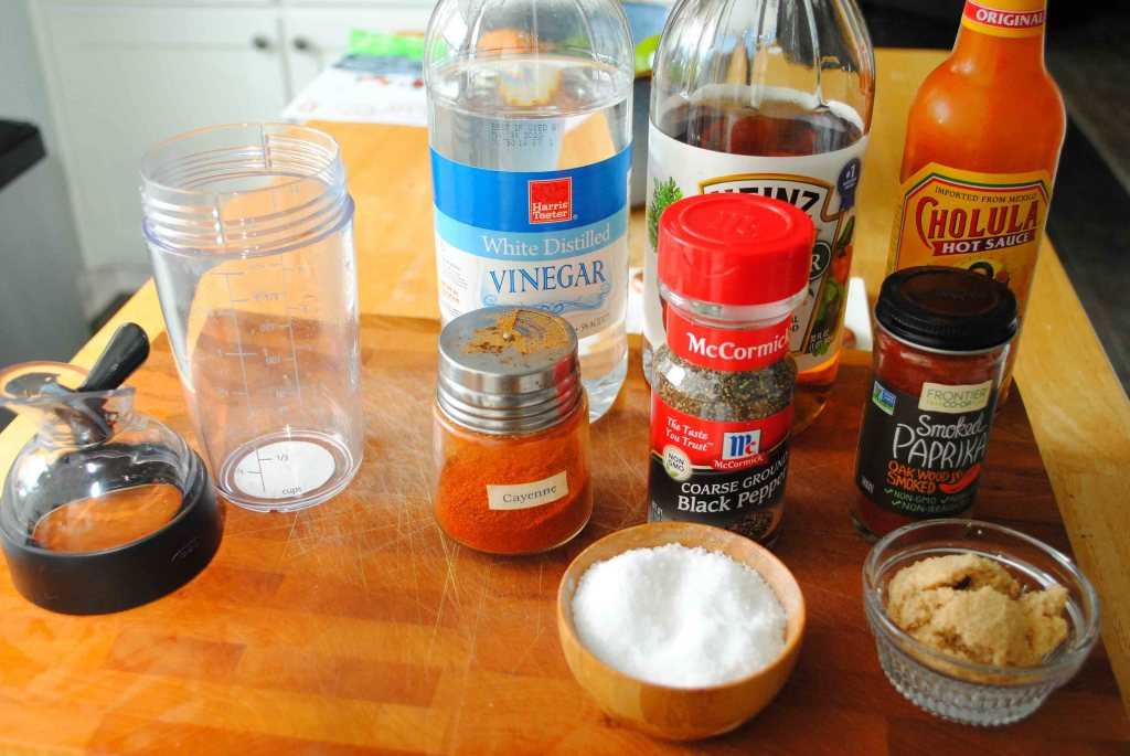 Ingredients needd for Eastern North Carolina BBQ Sauce
