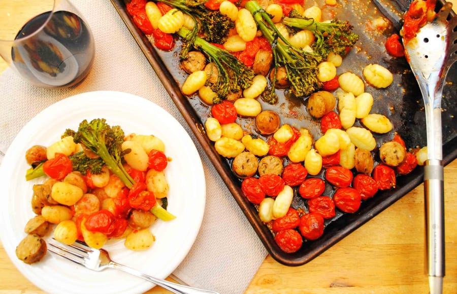 Sheet Pan Gnocchi with Sausage & Tomatoes