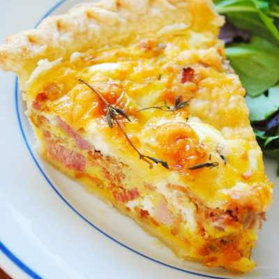 Ham and Bacon Quiche