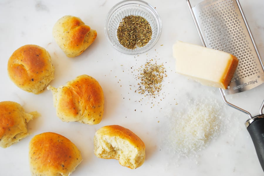 Parmesan and Herb Dinner Rolls
