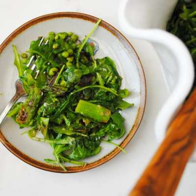 Spring Green Charred Salad