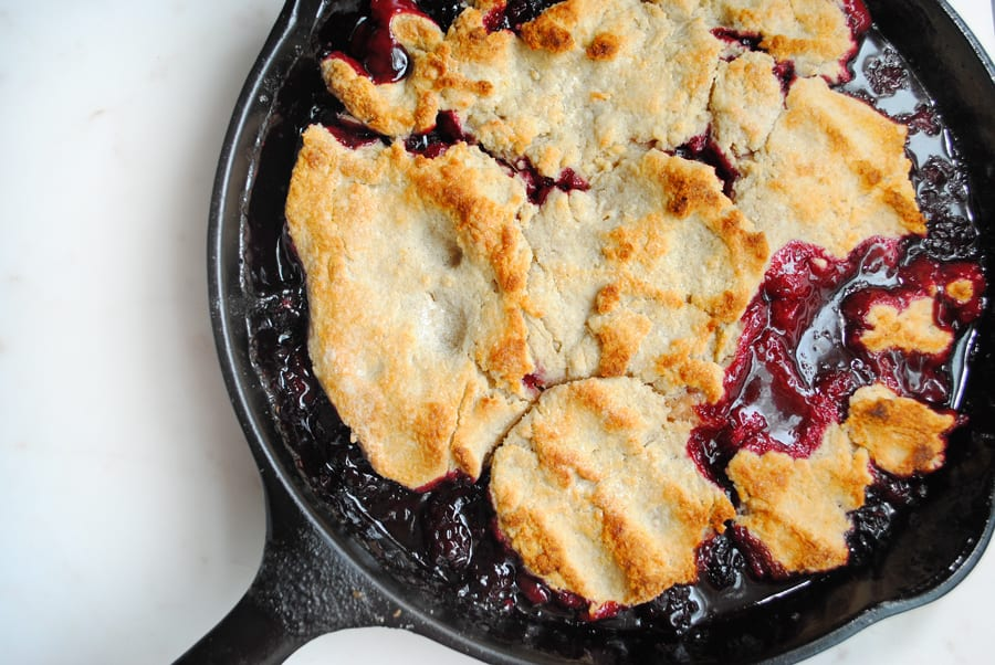 Twisted Blackberry Cobbler