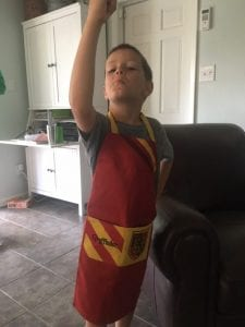 Jack with his apron on