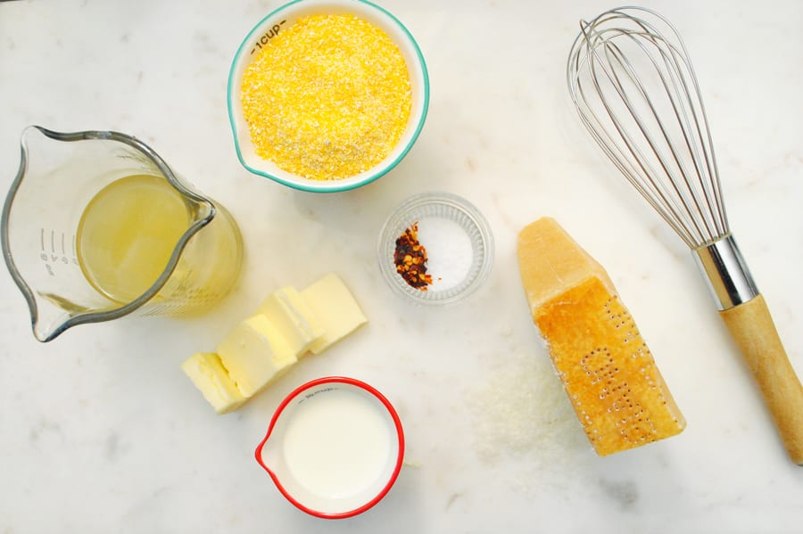Ingredients for Cheesy Polenta
