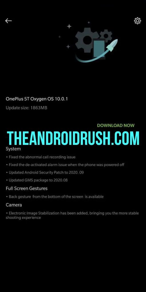 OnePlus 5T OxgyenOS 10.0.1 Update Screenshot  The Android Rush
