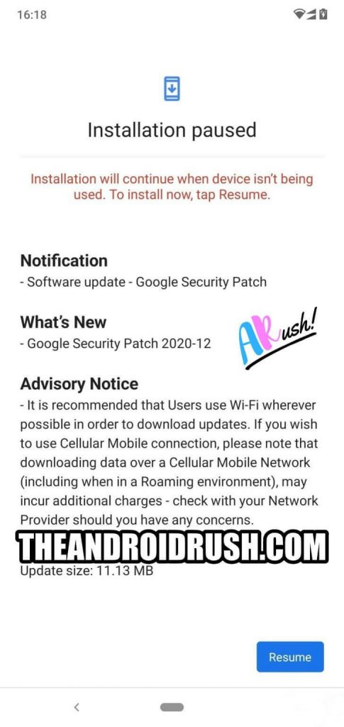Nokia 6.1 Plus December 2020 Update Screenshot - The Android Rush