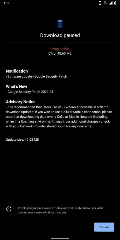 Nokia 7 Plus March 2021 Security Update Screenshot - The Android Rush