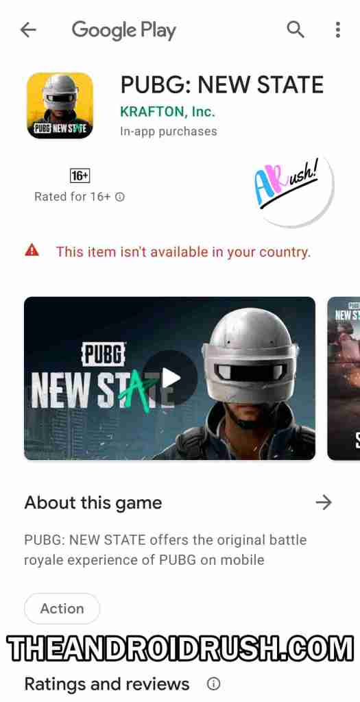 PUBG New State - The Android Rush