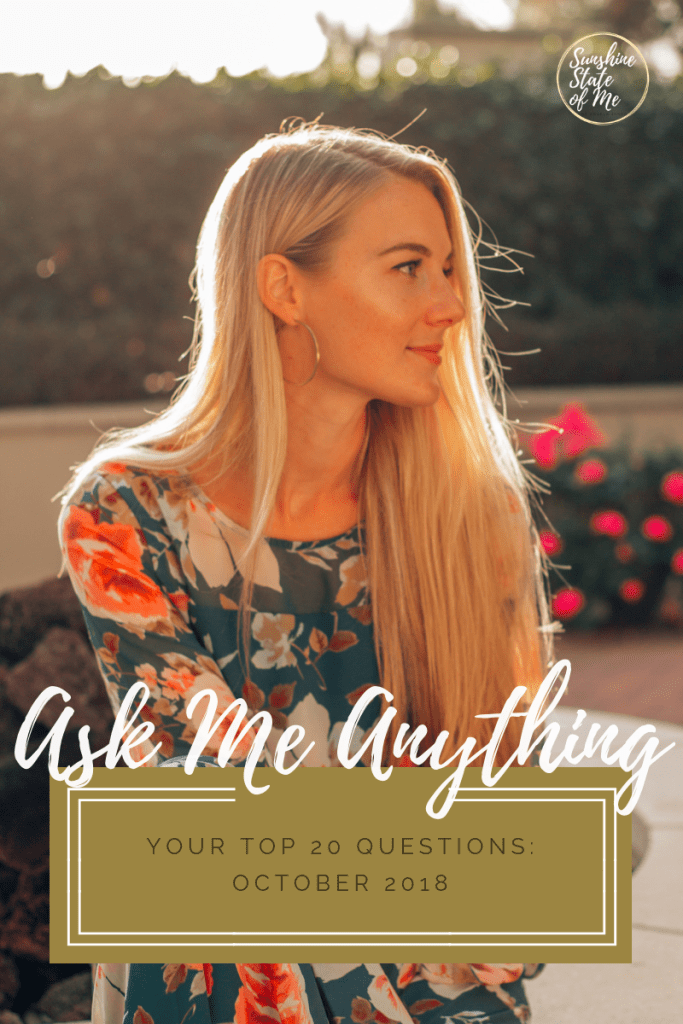 Ask Me Anything: October 2018