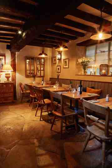 Our restaurant at The Angel, a nice private space for up to 20 people